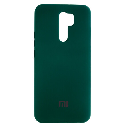 Чохол Silicone cover для Xiaomi Redmi 9 (Dark Green)