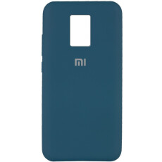 Чохол Silicone cover для Xiaomi Redmi Note 9  (Dark Blue)