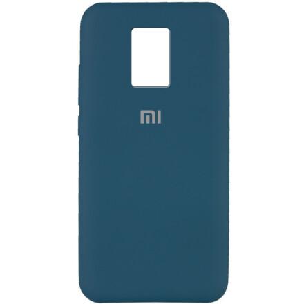 Чохол Silicone cover для Xiaomi Redmi Note 9  (Dark Blue)