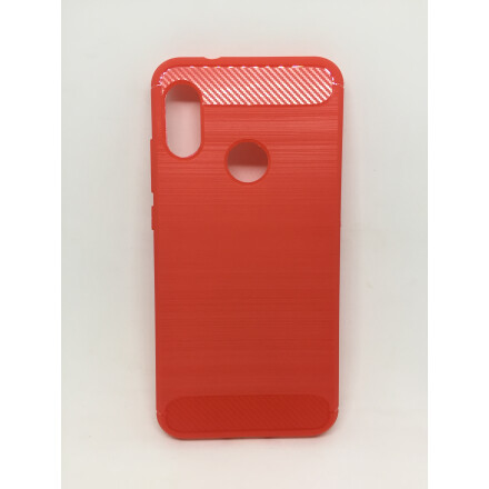 Силіконовий чохол Carbon для Xiaomi Mi A2 Lite (RED)