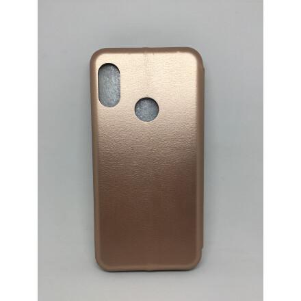 Чохол - книжка для Xiaomi Mi A2 Lite Шкіра (Gold)