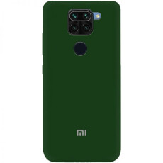 Чохол Silicone cover для Xiaomi Redmi Note 9 (Dark Green)