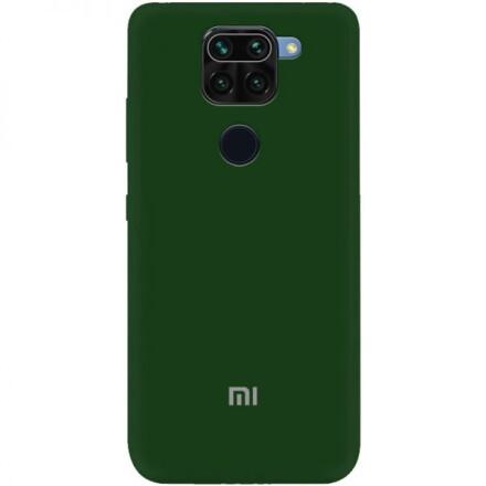 Чохол Silicone cover для Xiaomi Redmi Note 9 (Dark Green)