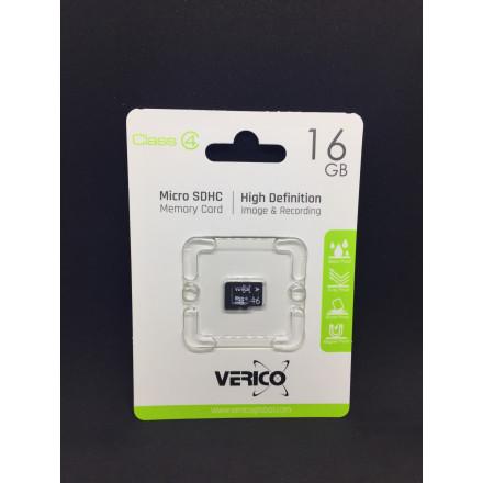 Карта пам'яті Micro SD Verico 16gb class-4   1MCOV-MDH6G3-NN