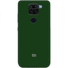 Чохол Silicone cover для Xiaomi Redmi Note 9 Pro/Note 9S (Dark Green)
